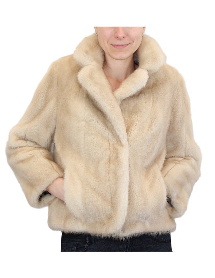 PRE-OWNED SMALL/MEDIUM DARK TOURMALINE MINK FUR JACKET - BRAND NEW LINING! - from THE REAL FUR DEAL & DAVID APPEL FURS new and pre-owned online fur store!