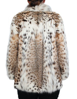 PRE-OWNED SMALL DESIGNER AMERICAN LYNX FUR JACKET - BEAUTIFUL MARKINGS! - from THE REAL FUR DEAL & DAVID APPEL FURS new and pre-owned online fur store!