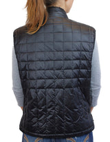 <b>REVERSIBLE</b> BLACK SHEARED MINK FUR VEST / QUILTED PUFF VEST - from THE REAL FUR DEAL & DAVID APPEL FURS new and pre-owned online fur store!