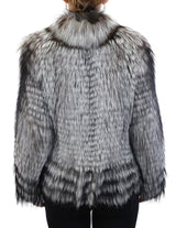 CANADIAN SILVER FOX & BLACK FOX FUR HORIZONTAL LAYERED, FEATHERY JACKET - from THE REAL FUR DEAL & DAVID APPEL FURS new and pre-owned online fur store!