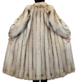 PRE-OWNED SMALL PETITE BLUE FOX FUR COAT! - SAKS FIFTH AVENUE - from THE REAL FUR DEAL & DAVID APPEL FURS new and pre-owned online fur store!