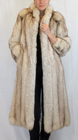 PRE-OWNED SMALL PETITE BLUE FOX FUR COAT! - <B>SAKS FIFTH AVENUE</B> - from THE REAL FUR DEAL & DAVID APPEL FURS new and pre-owned online fur store!