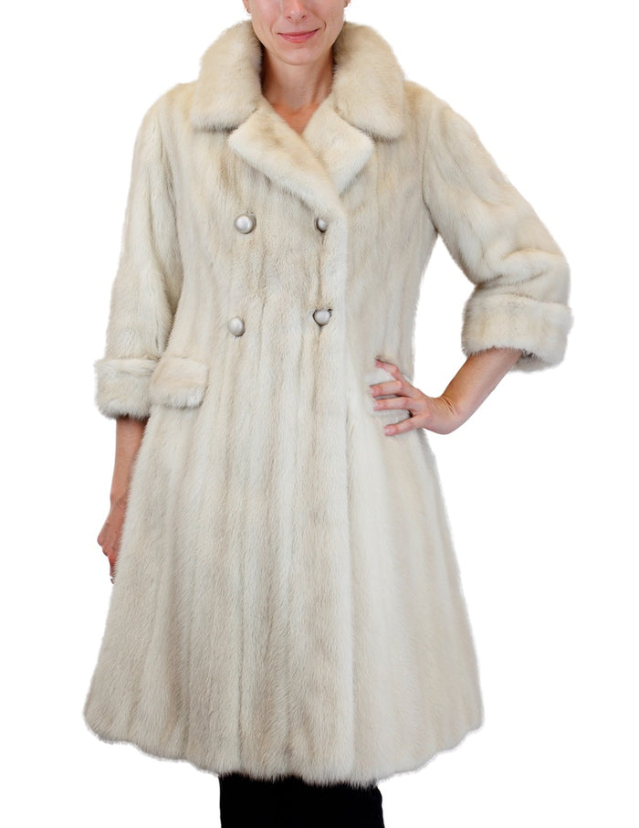 PRE-OWNED SMALL <b>SAKS FIFTH AVENUE</b> DOUBLE-BREASTED TOURMALINE MINK FUR COAT - from THE REAL FUR DEAL & DAVID APPEL FURS new and pre-owned online fur store!