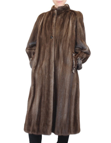 PRE-OWNED SMALL/MEDIUM VINTAGE CHRISTIAN DIOR BLUE IRIS MINK FUR COAT