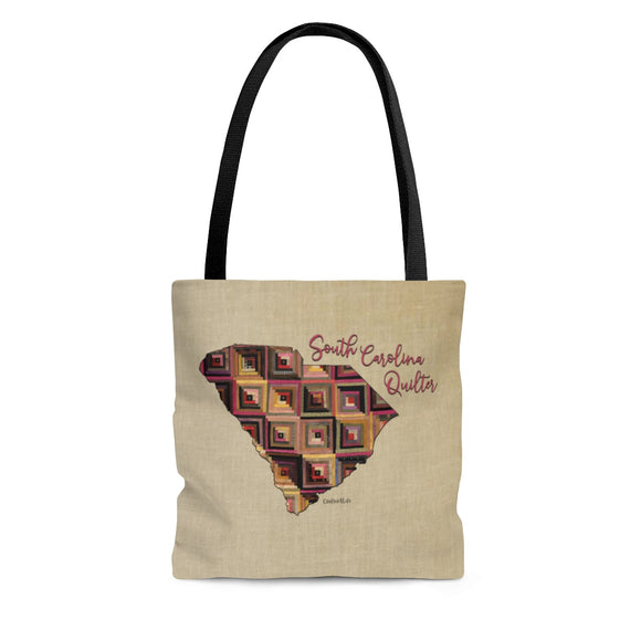 South Carolina Quilter Cloth Tote Bag