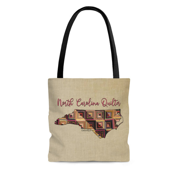 North Carolina Quilter Cloth Tote Bag