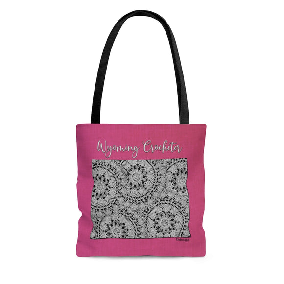 Wyoming Crocheter Cloth Tote Bag