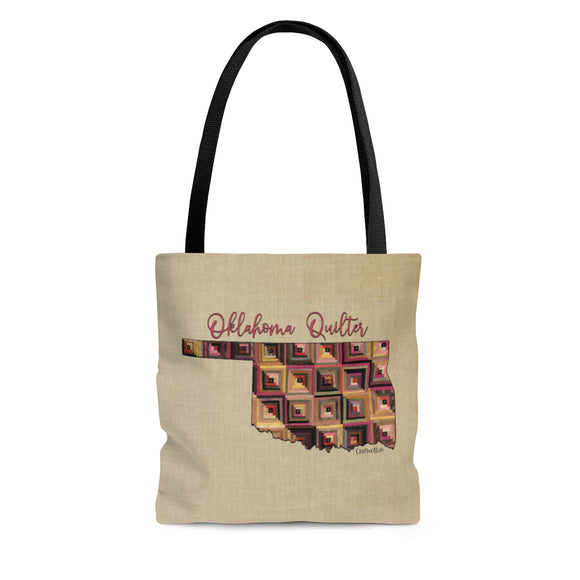 Oklahoma Quilter Cloth Tote Bag