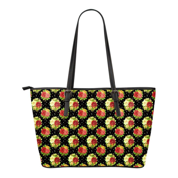 Vintage Roses Eco-Leather Tote Bag