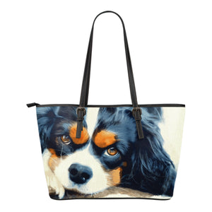 Cavalier King Charles Spaniel Eco-Leather Tote with Express Shipping