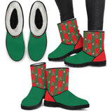 Tree Wrapping Paper Womens Ugly Christmas Boots