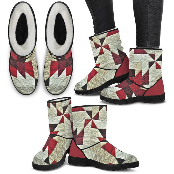 Prize-Winning Quilt Women's Faux Fur Boots