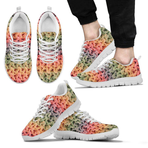 Rainbow Crochet Sneakers