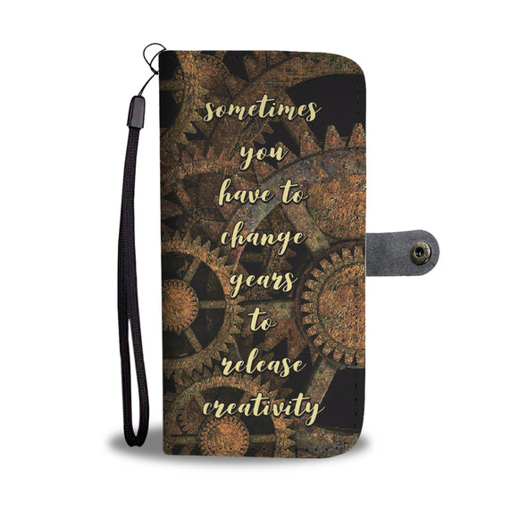 Sometimes You Have to Change Gears - Wallet Phone Case
