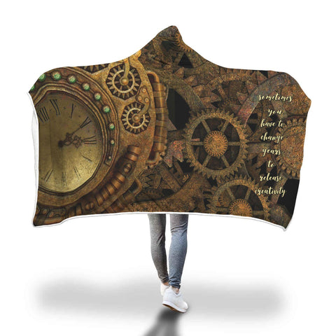 Sometimes You Have to Change Gears - Hooded Blanket