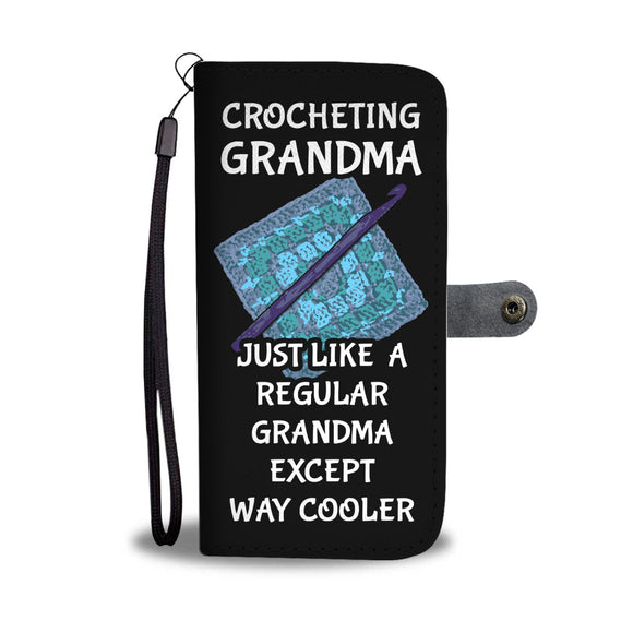 Crocheting Grandma - Wallet Phone Case