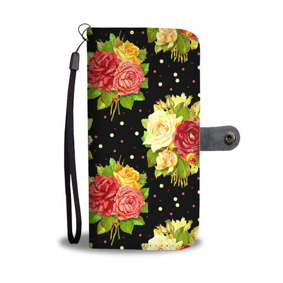 Vintage Rose Wallet Phone Case