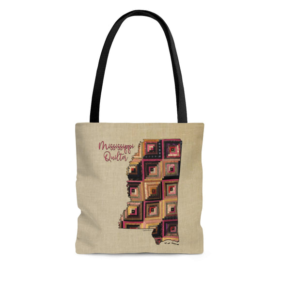 Mississippi Quilter Cloth Tote Bag