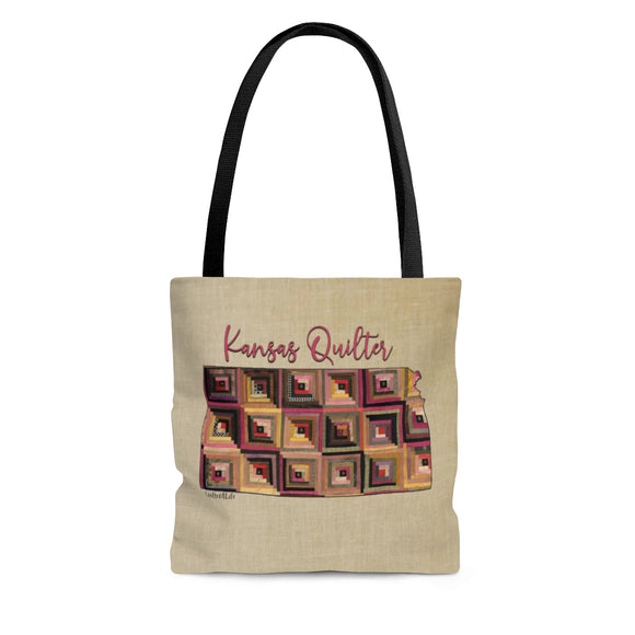 Kansas Quilter Cloth Tote Bag