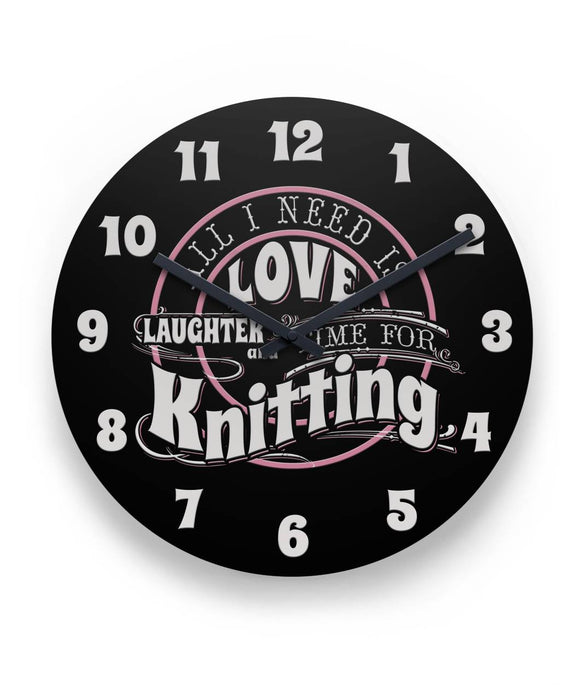 Time for Knitting Wall Clock 11