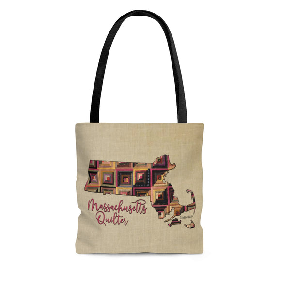 Massachusetts Quilter Cloth Tote Bag