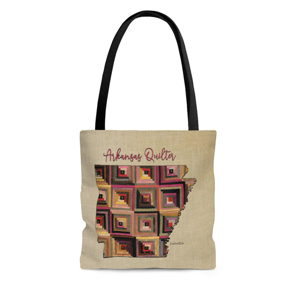 Arkansas Quilter Cloth Tote Bag