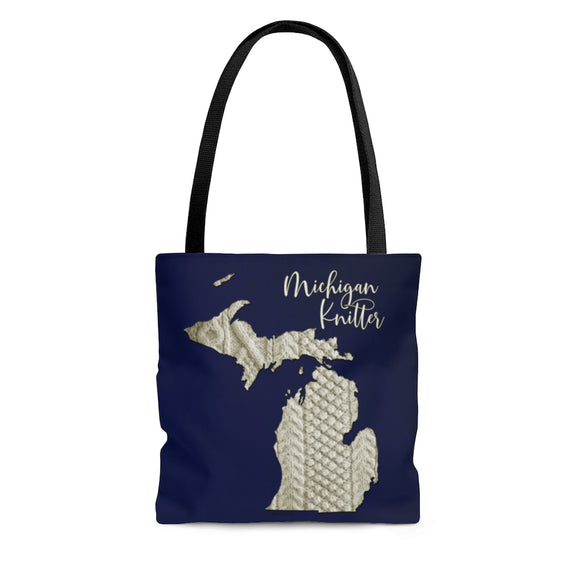 Michigan Knitter Cloth Tote Bag
