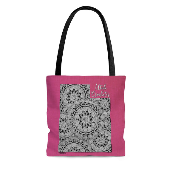 Utah Crocheter Cloth Tote Bag