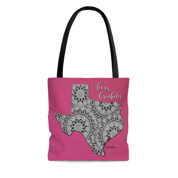 Texas Crocheter Cloth Tote Bag