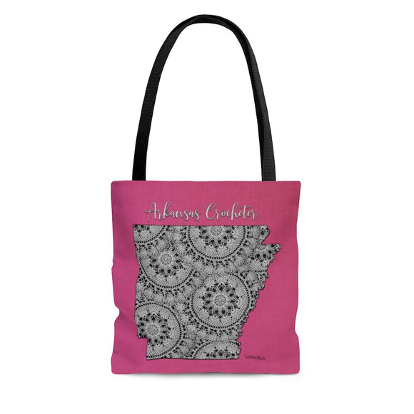 Arkansas Crocheter Cloth Tote Bag