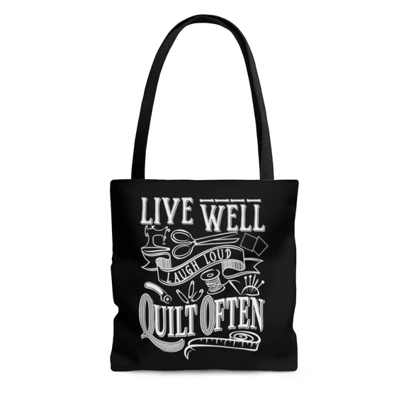 Live Well - Quilt Often - Tote Bag