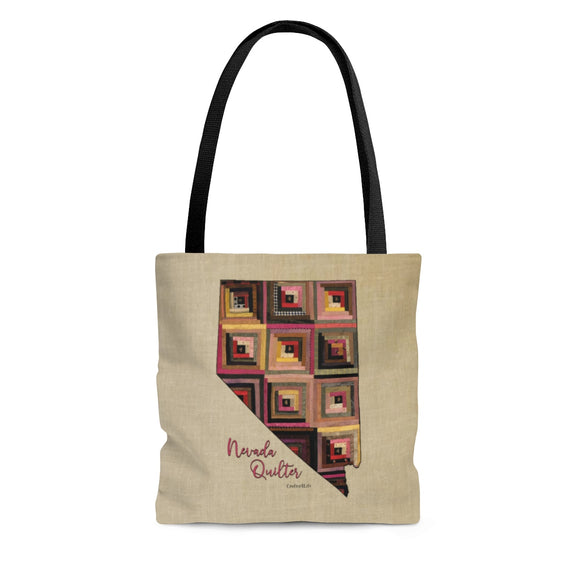 Nevada Quilter Cloth Tote Bag