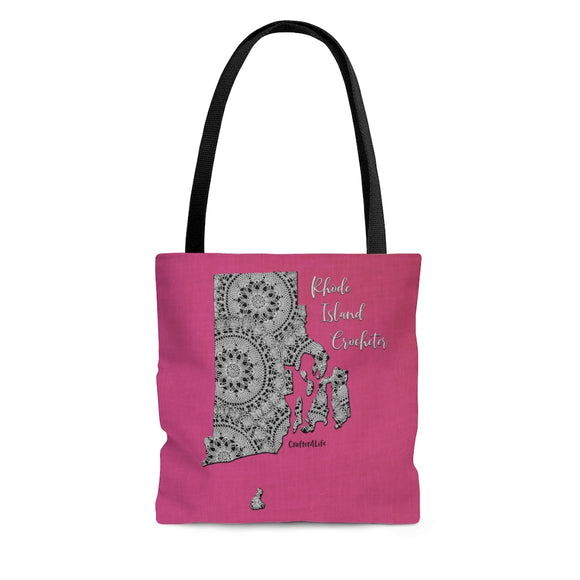 Rhode Island Crocheter Cloth Tote Bag