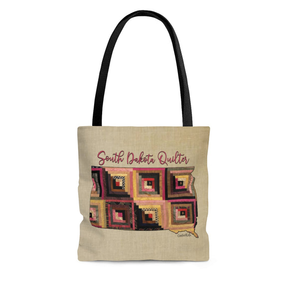 South Dakota Quilter Cloth Tote Bag
