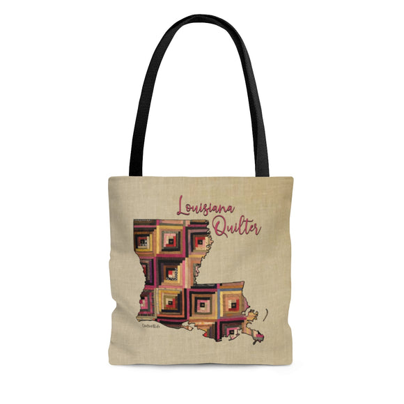 Louisiana Quilter Cloth Tote Bag
