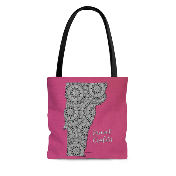 Vermont Crocheter Cloth Tote Bag