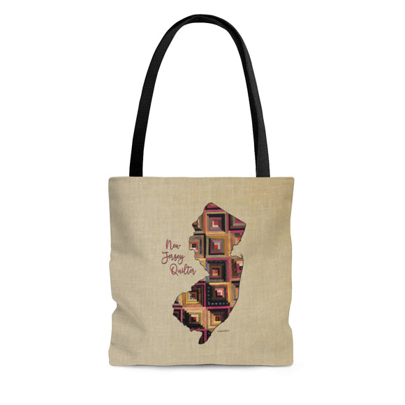New Jersey Quilter Cloth Tote Bag