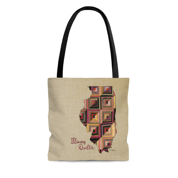 Illinois Quilter Cloth Tote Bag