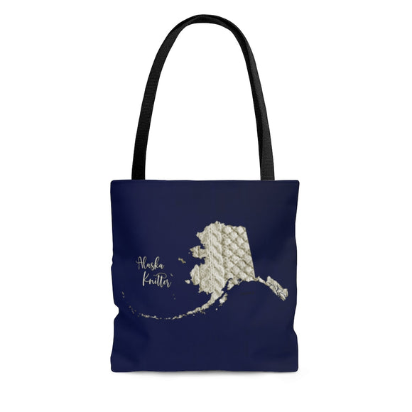 Alaska Knitter Cloth Tote Bag