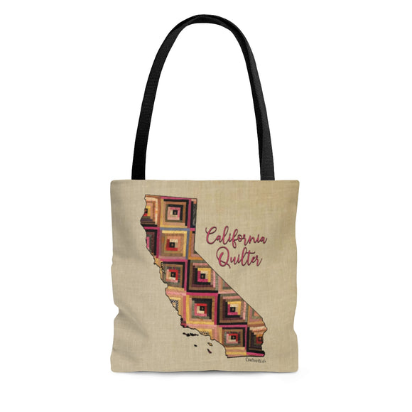 California Quilter Cloth Tote Bag
