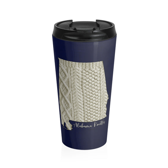 Alabama Knitter Stainless Steel Travel Mug