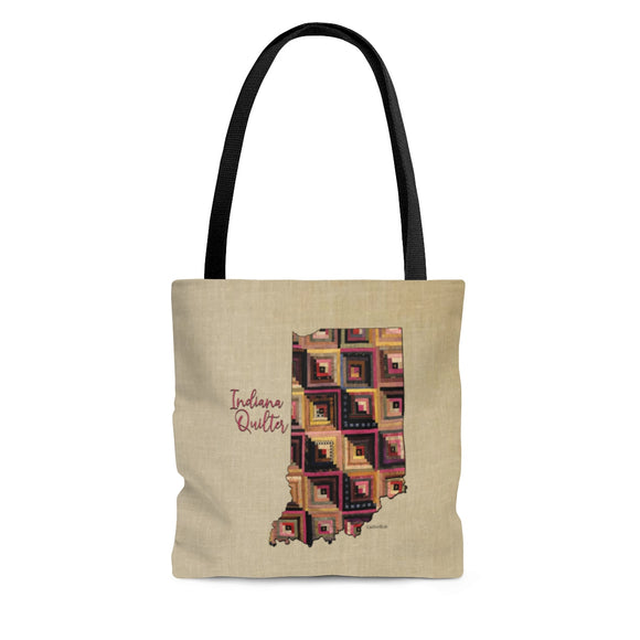 Indiana Quilter Cloth Tote Bag