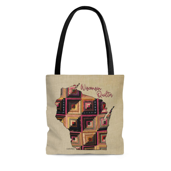 Wisconsin Quilter Cloth Tote Bag
