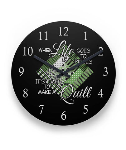 "It's Time to Make a Quilt Wall Clock 11"" Round Wall Clock"