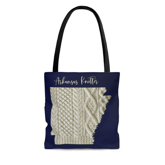 Arkansas Knitter Cloth Tote Bag