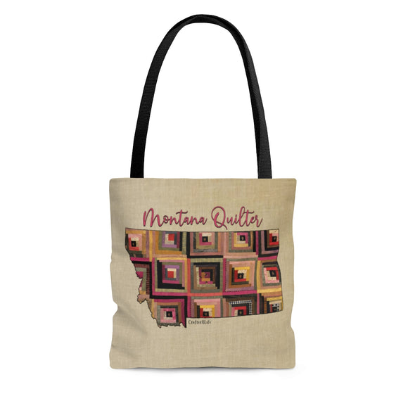 Montana Quilter Cloth Tote Bag