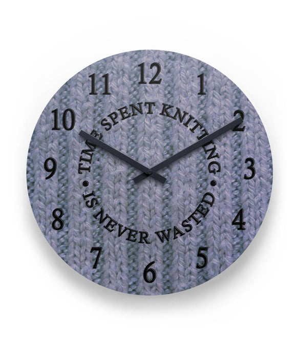 Time Spent Knitting Wall Clock 11