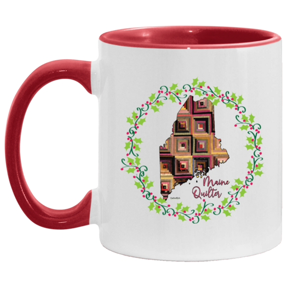 Maine Quilter Christmas Accent Mug