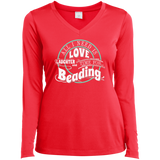 Time for Beading Ladies Long Sleeve V-neck Tee - Crafter4Life - 6