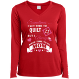 Time-Quilt-Mom Long Sleeve V-neck Tee - Crafter4Life - 4